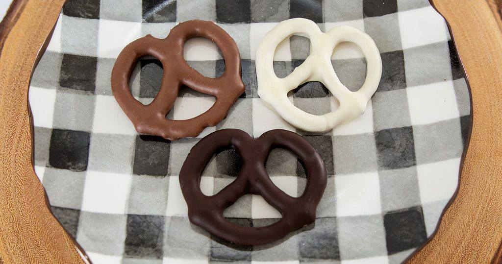 Milk Chocolate Covered Pretzels 1/2# bag