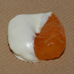 Apricots 1/2 Dipped White Chocolate