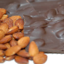 Almond Bark, Dark Chocolate, 1/2 lb. Folding Box