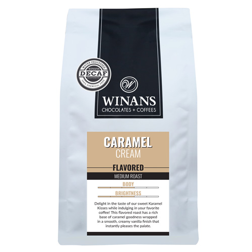Decaf Caramel Cream, 1 lb. bag, whole bean