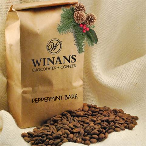 Decaf Peppermint Bark, 1 lb., bag, whole bean