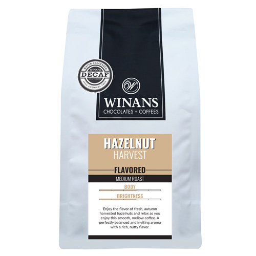 Decaf Hazelnut Harvest, 1 lb. bag, ground