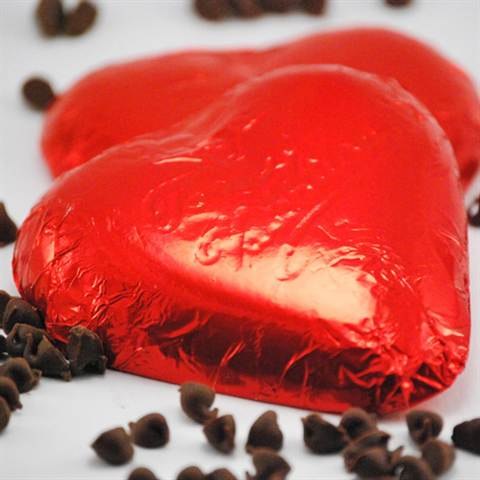 Foil Wrapped Milk Chocolate Heart