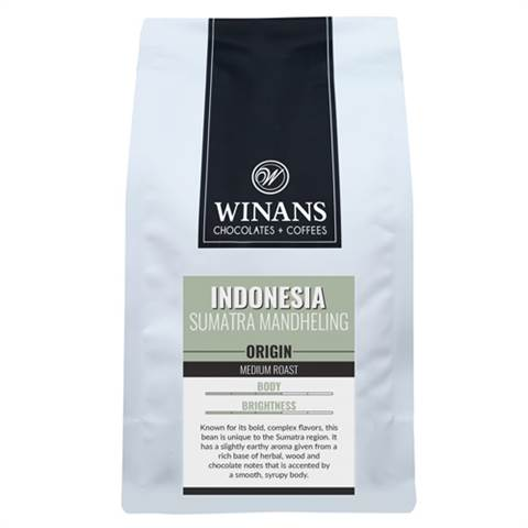 Indonesia Sumatra, 1 lb. bag, ground