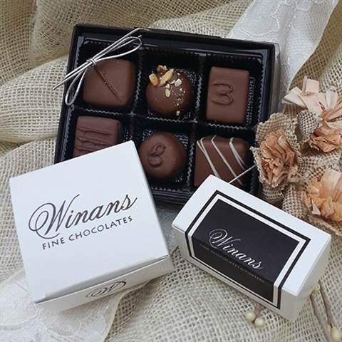 Assorted Milk Chocolates, 6 Piece Box