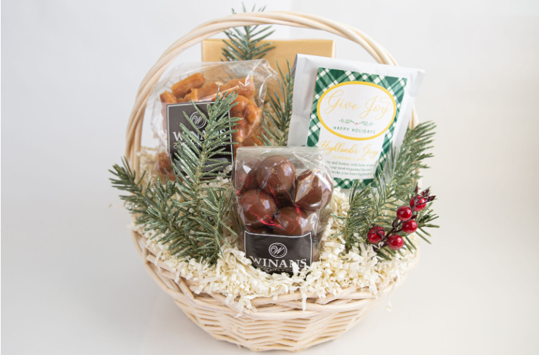 Seasonal Christmas Basket (small), Filled