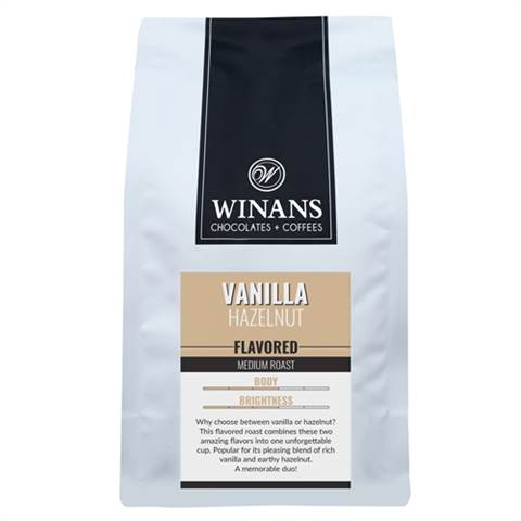 Vanilla Hazelnut, 1 lb. bag, ground