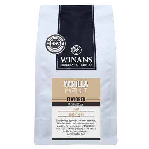 Decaf Vanilla Hazelnut, 1 lb. bag, whole bean