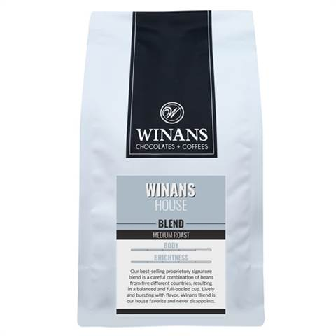 Winans Blend, 1 lb. bag, whole bean