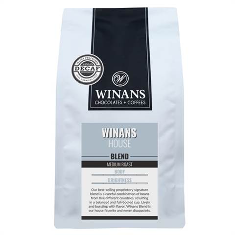 Decaf Winans Blend, 1 lb. bag, whole bean