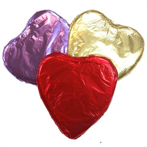 Foil Wrapped 2oz Hearts