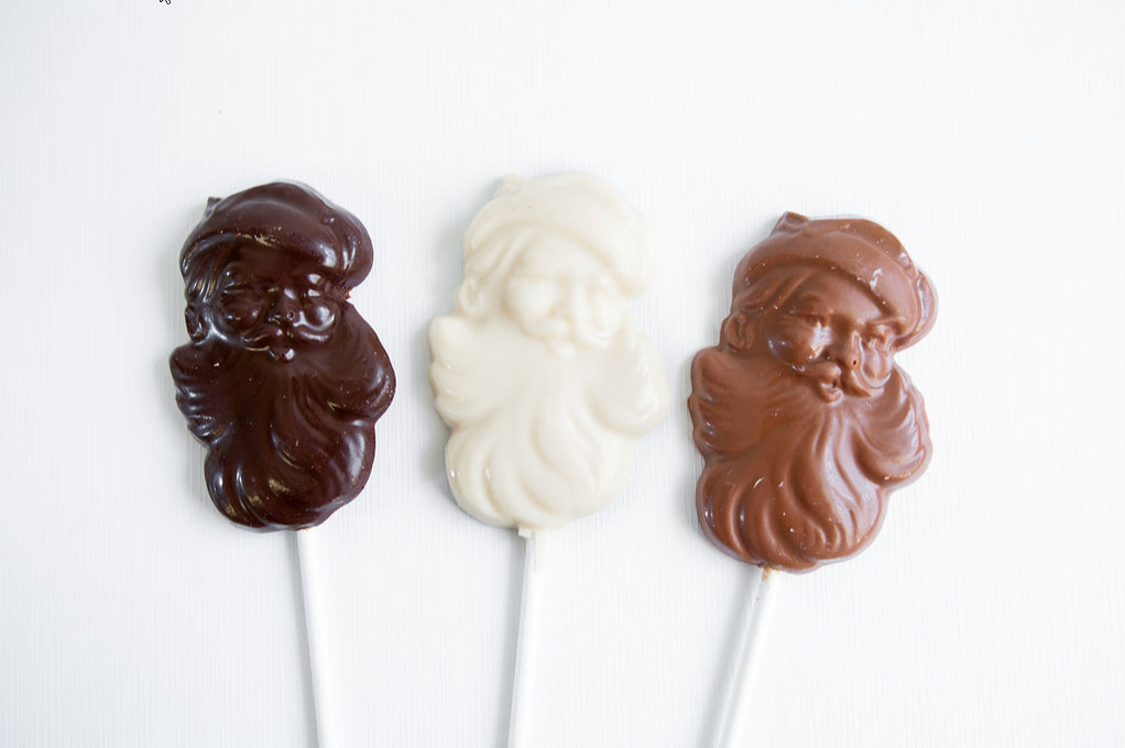 Dark Chocolate Santa Sucker