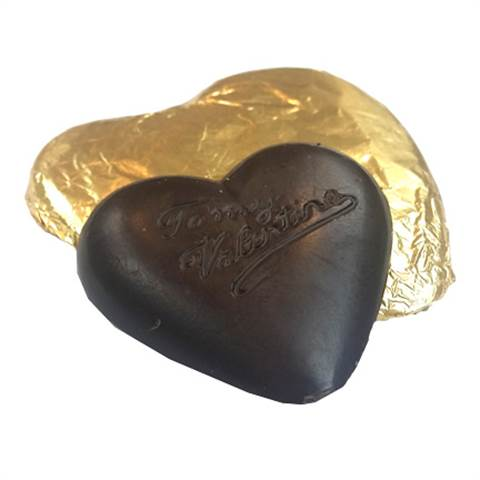 Dark Chocolate Foiled Heart, 2oz.