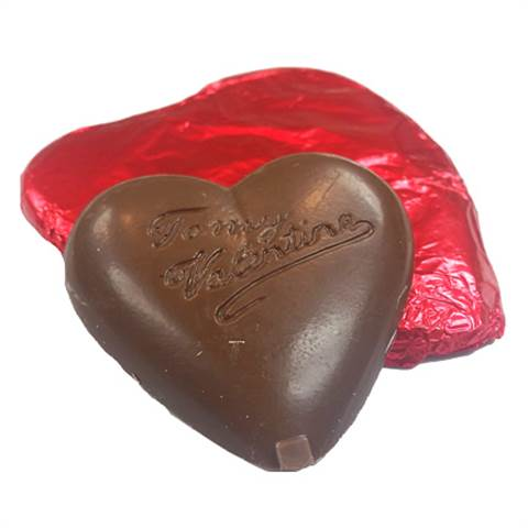 Milk Chocolate Foiled Heart, 2oz.